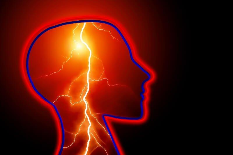 Abstrakte Darstellung eines epileptischen Anfalls