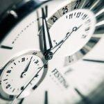 Ziffernblatt einer Uhr